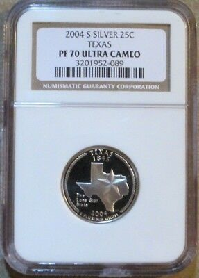 2004 S Texas State Quarter Silver Proof NGC PF 70 Ultra Cameo
