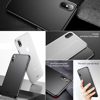 1aa907edc0fa0c Baseus Slim Shockproof Hard PC Protection Case Cover Fr Apple iPhoneX XS  Max XR