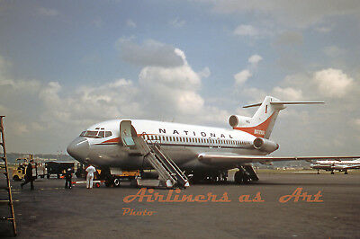 """National Airlines Boeing 727-35 N4614 at DCA  in July 1967 8""""x12"""" Color Print"""
