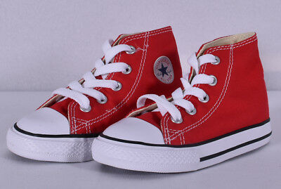 Converse Baby Chuck Taylor All Star Canvas High Top Sneaker Red(7J232)