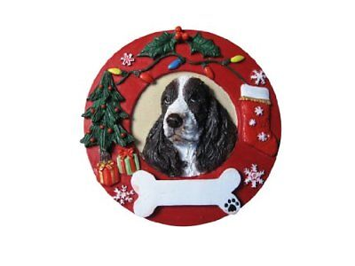 Springer Spaniel Ornament Personalized and Hand Painted 3.75 Inches Diameter