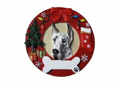 Harlequin Dane Ornament Personalized and Hand Painted 3.75 Inches Diameter