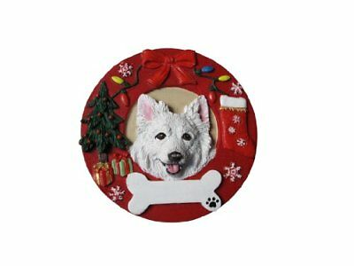 American Eskimo Ornament Personalized and Hand Painted 3.75 Inches Diameter
