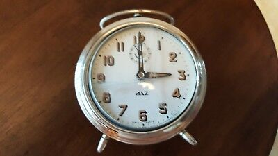 Antique vintage french alarm clock JAZ 1940s  DECORATION DECO RARE