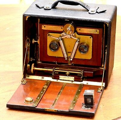 Scoville And Adams 5X7 Stereo View Camera,rare, Beautiful!