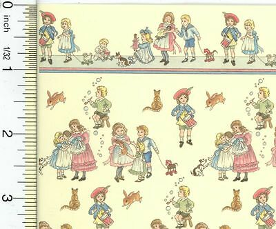 Dollhouse Wallpaper Victorian Creme Children's Nursery