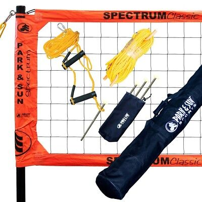 Park and Sun Spectrum Classic Volleyball Net System Orange  NEW!!!