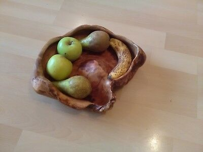 rustic wood fruit bowl/centre peice