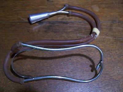 Vintage Metal Rubber Medical Stethoscope