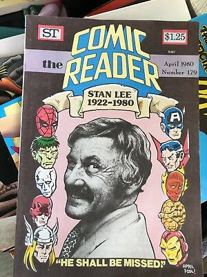 Comic Reader Stan Lee 1922 - 1980  No# 179 Also Comic Reader No# 181