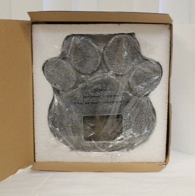 NEW Paw Print Cat Dog Pet Grave Memorial Stone Marker Plaque Headstone w Picture
