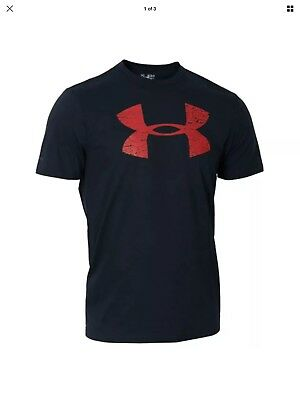 Under Armour Wales Official Rugby T-Shirt Black & Red Great Price at £12.99