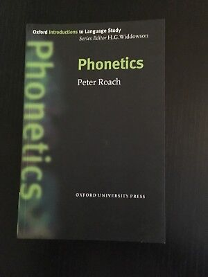 Phonetics by Peter Roach (Paperback, 2001) - pre-owned, very good condition