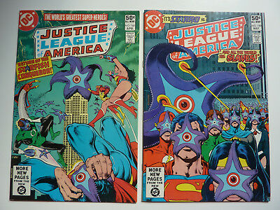 Justice League of America 189 190 Wonder Woman - lot of 2 comics Brian Bolland