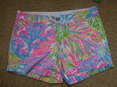 "Lilly Pulitzer 5"" Callahan Short Multi Lovers Coral Size 8 NWT"