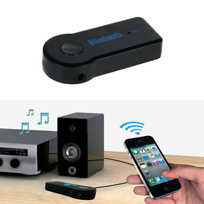 Wireless Bluetooth 3.5mm AUX Audio Stereo Music Home Car Receiver Adapters Mic