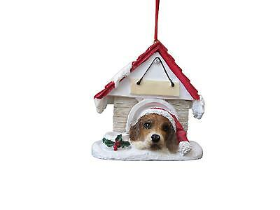 """Beagle Ornament Hand Painted and Easily Personalized """"Doghouse Ornament"""""""
