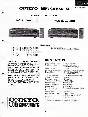 Original Onkyo Service Manual for the DX-C909 DX-C606 CD Changer~Repair