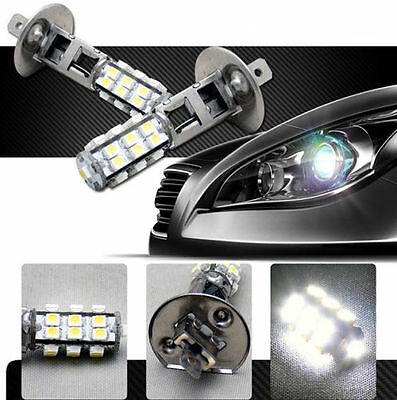 2 x H1 12V 25 SMD LED PURE WHITE HID LOOK HEAD LIGHT LAMP GLOBES BULBS - AUSPOST