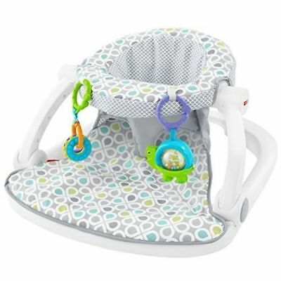 Fisher-Price Sit-Me-Up Floor Seat, Grey/Blue/Green NEW