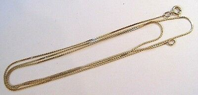 "Stunning 14K Yellow Gold Flat S Link Chain Necklace 1.1 Grams 19 3/4"" Long"