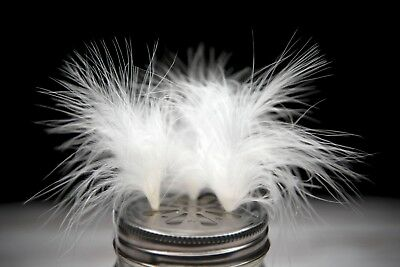 Very Fluffy White Turkey Marabou Feathers