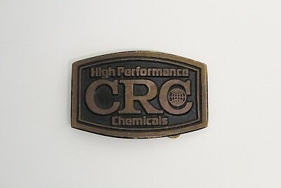 Dyna Buckle VINTAGE 1980s **CRC HIGH PERFORMANCE CHEMICALS** SOLID BRASS