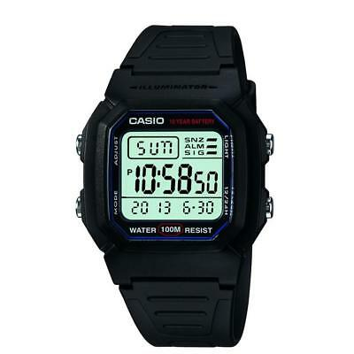 Durable Resin Men's W800H-1AV Classic Sport Watch with Adjustable Black Band