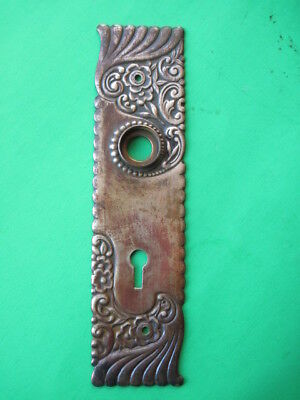 Vintage Antique Door Hardware Door Brass Face Plate Architectural Salvage