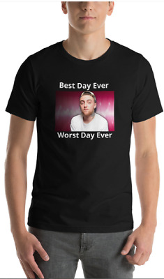 NEW DOPE MAC MILLER STYLE BEST DAY EVER  TRIBUTE T shirt assorted colors