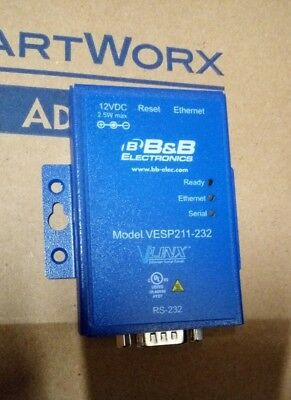 Advantech B+B Electronics Ultra-Compact, 1-Port Ethernet Serial Server (RS-232)