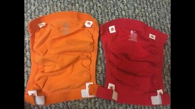 Two Target Brand Cloth G Diapers With Inserts