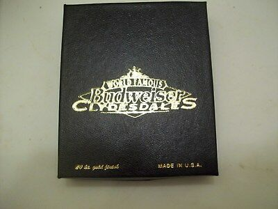 World Famous Budweiser Clydesdales Ornament, 24kt. Gold Finish, Box & Paper