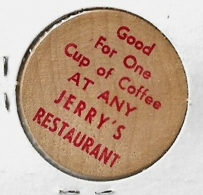 Jerry's Restaurant (formerly Sambo's) Wooden Coffee Nickel
