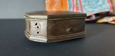 Old Northern India Brass Make-up Container / Box …beautiful collection item