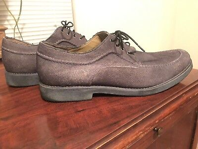 VINTAGE USA HUSH PUPPIES Mens 11.5 Shoes Casual Dress LACE UP Grey
