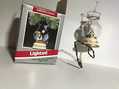 "Hallmark Keepsake Ornament ""Chris Mouse Cookout"" Lighted Series 1989"