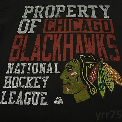 Chicago Blackhawks Large Short Sleeve NHL Hockey Logo Graphic T-Shirt - Black