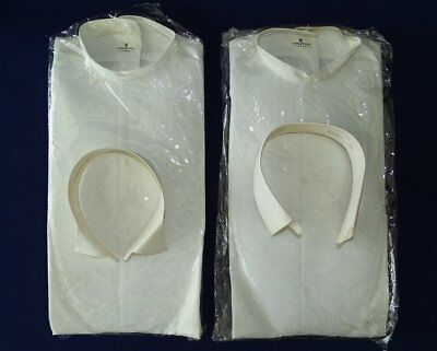 Two Lyon of Troy 1920's 30's Men's Formal Shirts 2 Collars Original Packaging