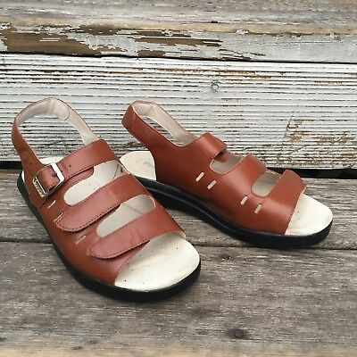 cc43609ffc0 PROPET BROWN LEATHER Strappy Sandals Women s Size 9 Wide -  39.99 ...