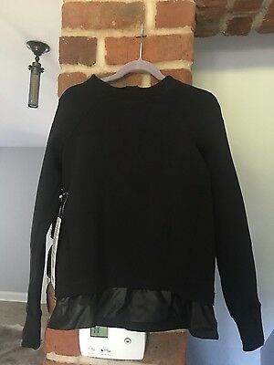 Ivivva Star Gazer Spacer Pullover Jacket Black ,thumbholes 8 Nwt $68.00