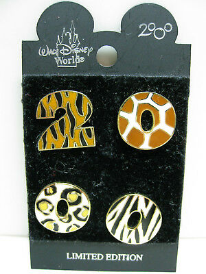 Disney Pin - Animal Kingdom Date Year 2000 4 Pin Set Limited Edition LE