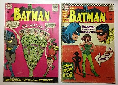 2-Batman #171 P-restapled, Some Ink&water Complete#181g-pullout Missing Complete