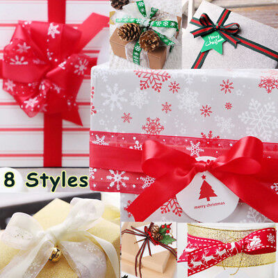 23 Meter Christmas Present Wrapping Gift Cake Pack Wrap Ribbon Party Decor DIY