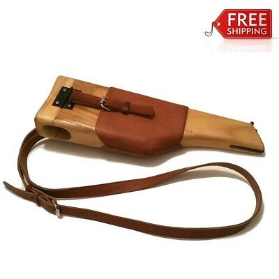 Ww2 German Army Military Mauser Wood Holster Broomhandle Stock Brown Color