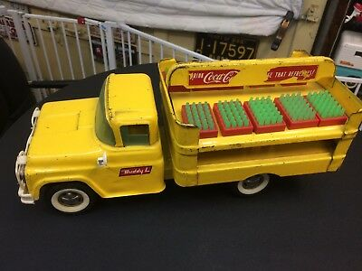 Vintage BUDDY L Pressed Steel COCA COLA COKE TRUCK with CASES
