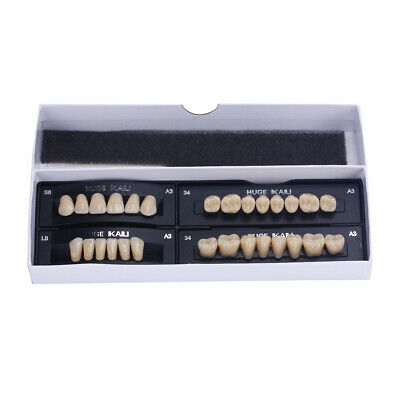 KAILI Full Sets Synthetic Polymer Resin Teeth Upper + Lower Dental Set
