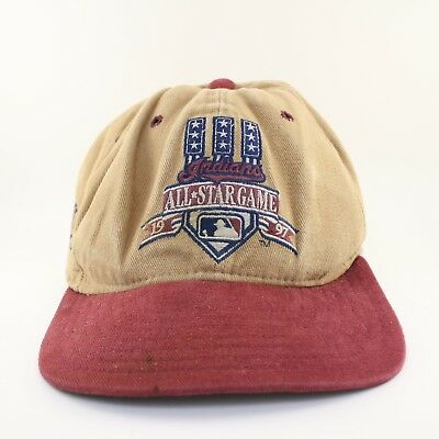 Vintage New Era 90s MLB Indians All Star Game 1997 Strapback Hat Cap Made  in USA e58734838e26