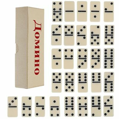 Set of 28 Double Six Club Ivory Dominos In Box Traditional Table Travel Game Toy
