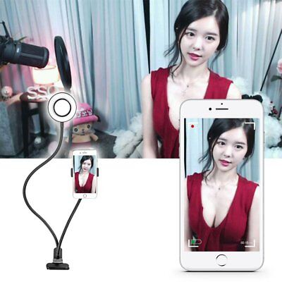 Selfie Ring Light with Clamp Cell Phone Holder For Video Live Stream Bracket New